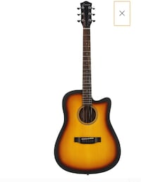 Acoustic Great Quality Donner Cutaway Sunburst Guitar DAG-1S Beginner  Washington, 20011