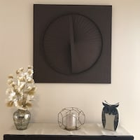 Square Brown Wooden Wall Art