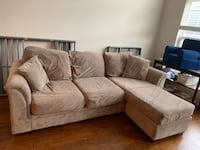 Microfiber (easy to clean) couch Chantilly