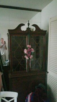 brown wooden framed glass display cabinet Woodbridge, 22191