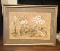 Large Framed White Orchids wall art Los Angeles, 91423
