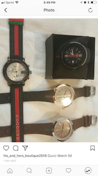 two round black and silver chronograph watches Baltimore, 21239