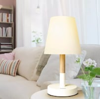 White and brown table lamp new