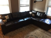 Beautiful brand new leather sectional