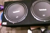 black and gray Pioneer subwoofer speaker Fountain, 80817