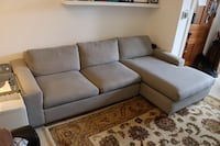 "Comfortable 106"" Room and Board Sofa with Chaise Washington, 20002"