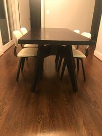 """Modern dining table Gus modern Span Dining Table By Gus Modern $1,095.00 retail    Material(s): Wood veneer Dimensions: 72"""" W X 36"""" D X 30"""" H Inspired by mid-century design, the Span Dining Table is a stream-lined piece in the Gus* Modern collection. Arch Springfield, 22150"""
