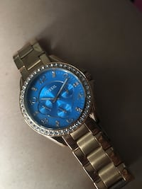 Fossil blue and gold watch for women Pasadena, 77503