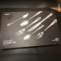 Brand new Black and gray cutlery  set