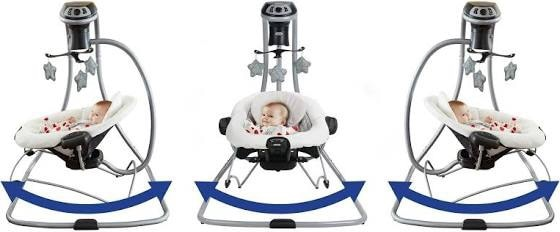 Photo Graco DuetConnect LX with Multi-Direction Baby Swing Asher