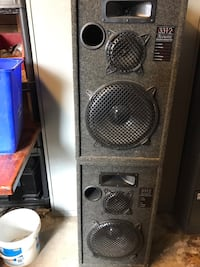 Grey/Black box speakers. Two for sale   Vaughan, L4K 2H9