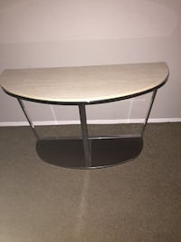 Round black wooden side table Dallas