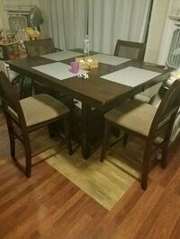 Ethan allen 4 chair, bar height, solid wood table San Diego, 92120