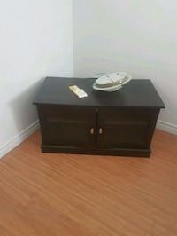 black wooden TV stand with cabinet Salaberry-de-Valleyfield, J6S 6B4
