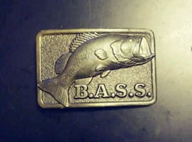 Large Mouth BASS * Belt Buckle ~ Solid Brass