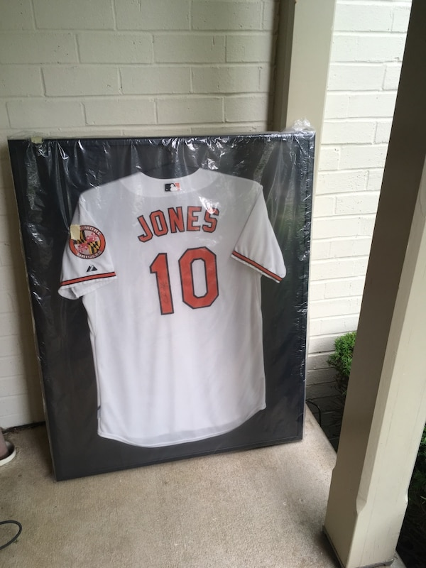 Adam Jones signed and framed game issued jersey