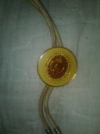 round yellow and red pendant Gilbertsville, 42044