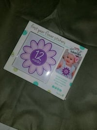 First year flower stickers for baby girls.