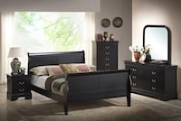 NEW Queen  or King Size 7pc Ebony Sleigh Bedroom Set Charlotte, 28216