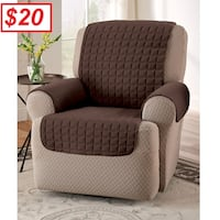 AJ - BRAND NEW - Chocolate Microfiber Recliner/Wing Chair Protector Mississauga