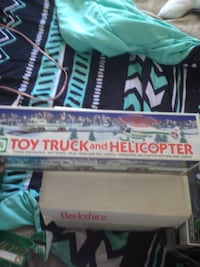Toy truck and helicopter pack