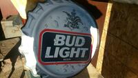 Bud light tin beer sign Edmonton, T5Y 6A2