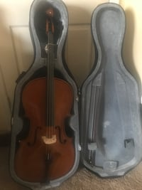 Brown cello with bow in case $200 only . Woodbridge, 22191