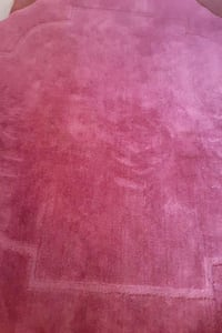 "6"" Octagon cranberry area rug , $8.00"