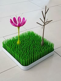 Boon grass drying rack w/ twig and flower