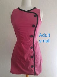 pink and black button-up sleeveless dress Fresno, 93706