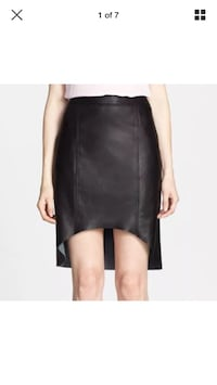 Trouvé size 0 leather skirt black asymmetrical hi lo hem new Hamilton, L8L 1X4