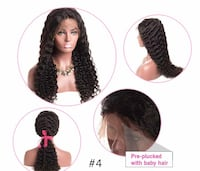 "New 360 Full Lace 22"" Malaysian 100% Human Hair Wig s4 55 km"
