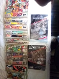 X-Men comic books and plastic covers and card board