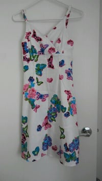white, blue, and pink floral sleeveless dress Vancouver