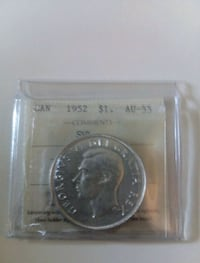 1952 Canadian $1 Dollars Silver Graded Coin