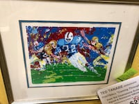 Ted Tanabe football serigraph signed and numbered with COA -1977 Goodyear, 85395