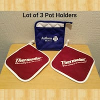 LOT OF 3 POT HOLDERS (UNUSED) Ontario, 91762
