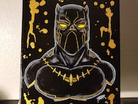 black and yellow Batman print textile Peoria