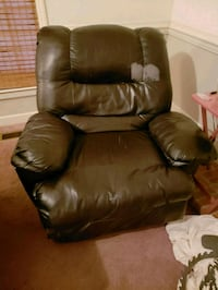 brown leather recliner sofa chair Goldsboro, 27534