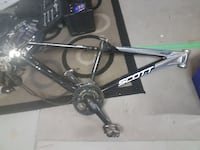 black and silver Scott bicycle frame Calgary, T1Y