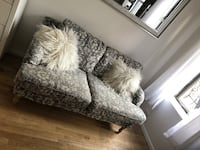 White and gray floral sofa chair New York, 10012