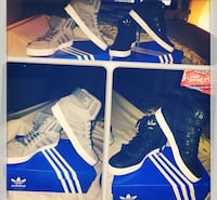 2 pairs of adidas high top shoes Surrey, V3R