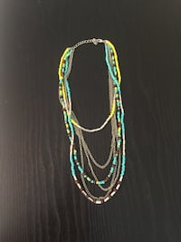 Layered turquoise & yellow necklace