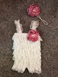 Lace Romper and Head Bow 0-3 Months Rancho Cucamonga, 91730