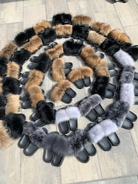 Fashion fur slipper slides