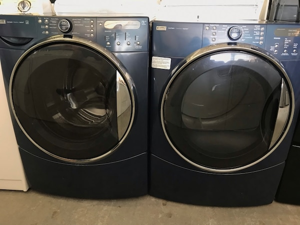 Used Blue Kenmore Elite Front Load Washer Amp Dryer For Sale