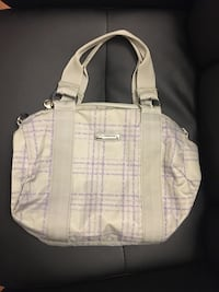 white and pink leather tote bag Montréal, H3H 2J4