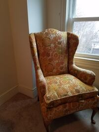 Brown and beige floral fabric sofa chair Dunmore, 18512