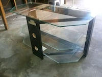 black and brown wooden TV stand Houston
