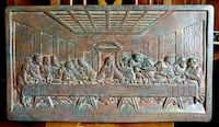 Vintage LAST SUPPER plaster Relief from Italy Andover